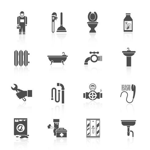 Sanitair pictogrammen instellen vector