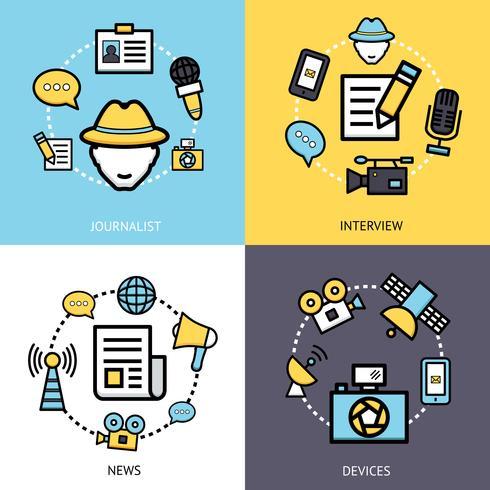 Nieuws Reporter Design Concept vector