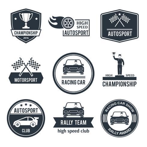 auto sport label vector