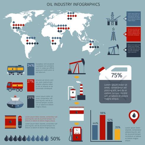 Olie-industrie Infographics vector