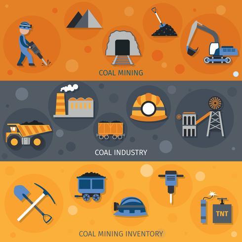 kolenindustrie banners vector
