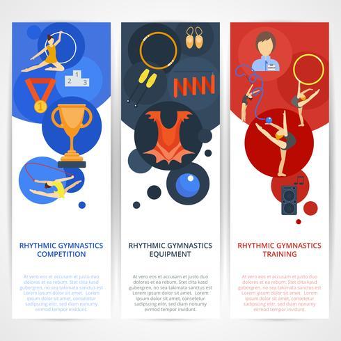 Gymnastiek Banners Flat vector