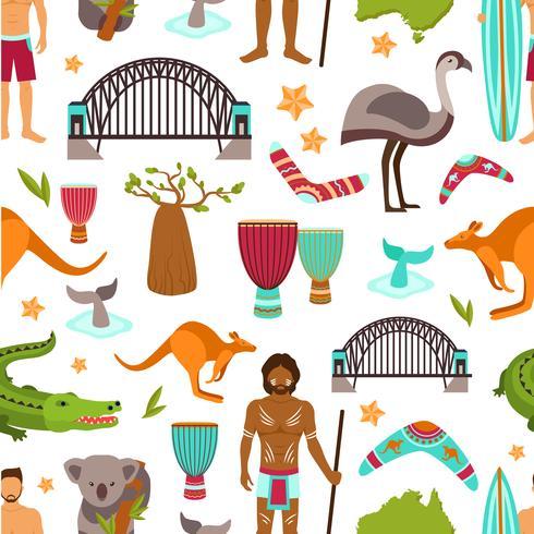Australië naadloze patroon vector