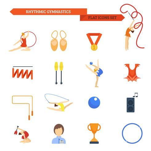 Gymnastiek pictogram plat vector