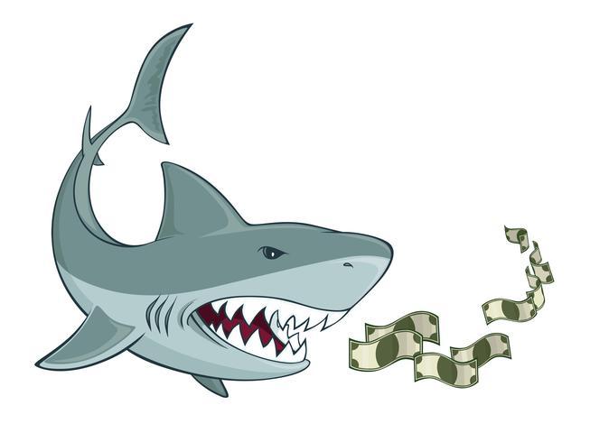 Zakelijke haai vector