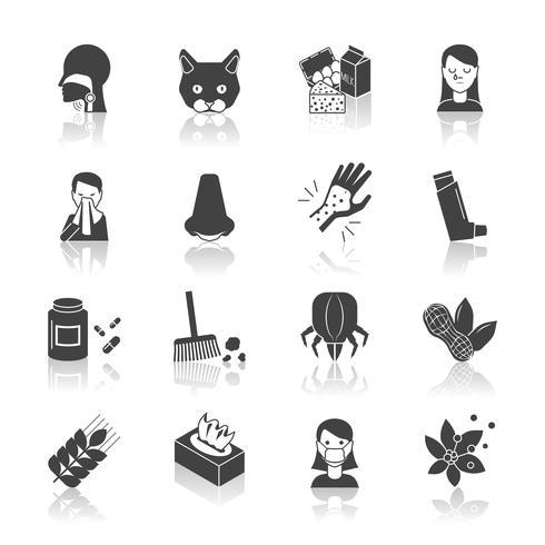 allergie pictogram zwart vector