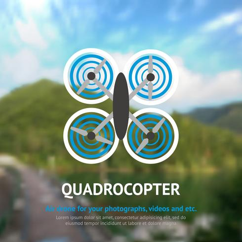 Drone Quadrocopter achtergrond vector