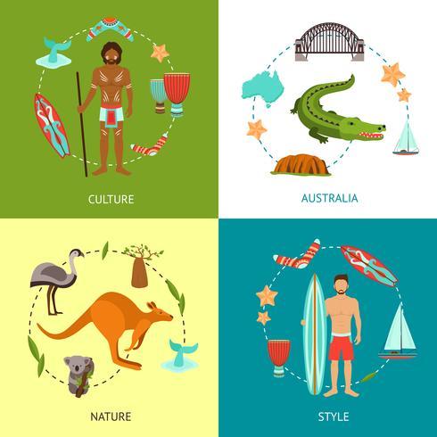 Australië Design Concept vector