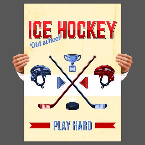IJshockey poster vector