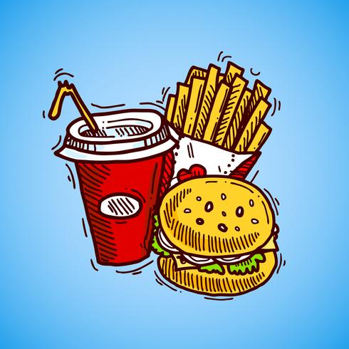 Fast Food-pictogram vector