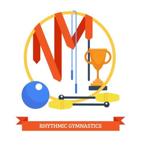 Ritmics Gymnastiekconcept vector