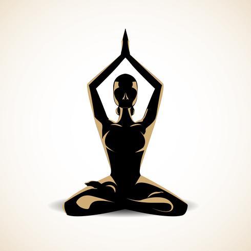 yoga meditatie vector