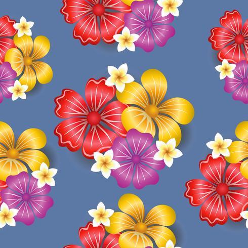Tropische bloemen naadloze patroon achtergrond vector
