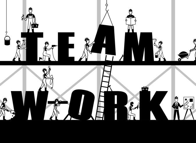Bouw Teamwork Poster vector