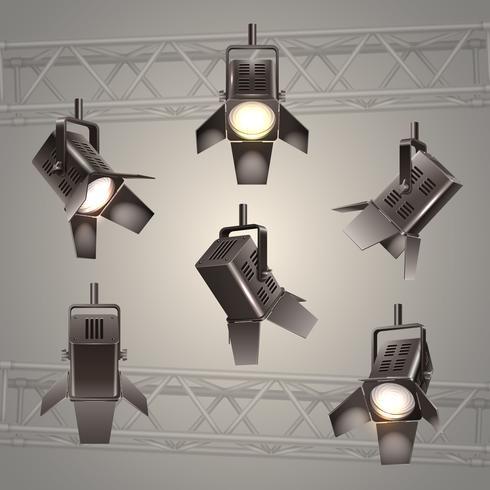 podium verlichting vector