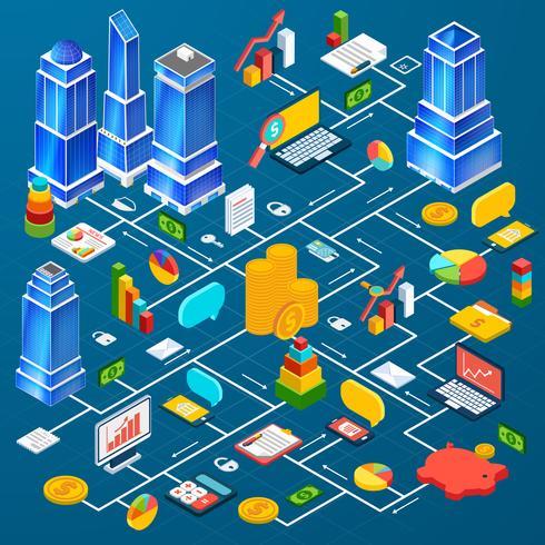 Infographic planning van de stadsinfrastructuur vector