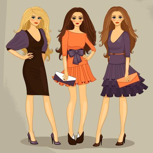 mode meisje vector
