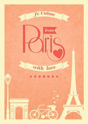 Hou van Parijs vintage retro poster vector