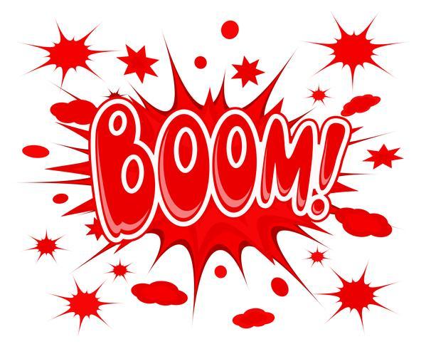 Boom explosie pictogram vector