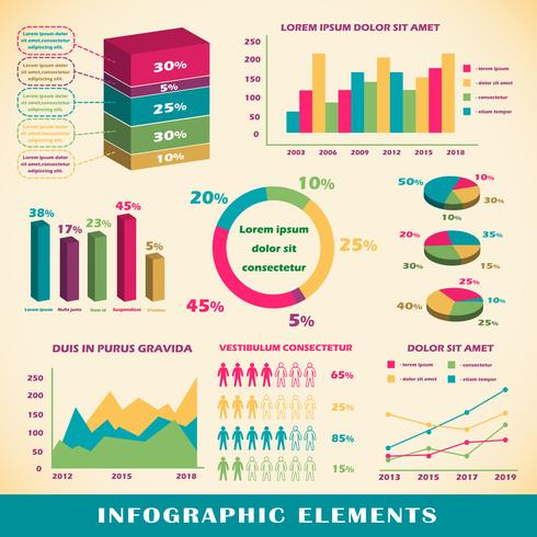 Set van infographics elementen vector