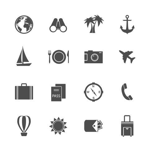 Vakantie vakantie pictogrammen collectie vector