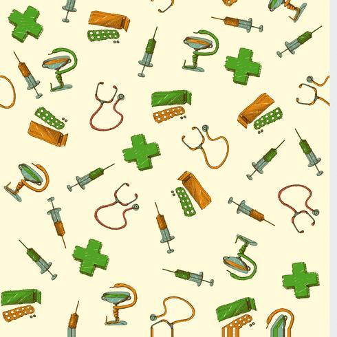 Naadloze geneeskunde en gezondheidszorgachtergrond vector