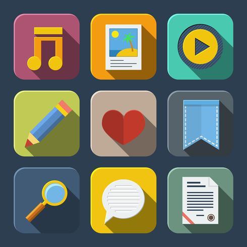 Media iconen pack vector