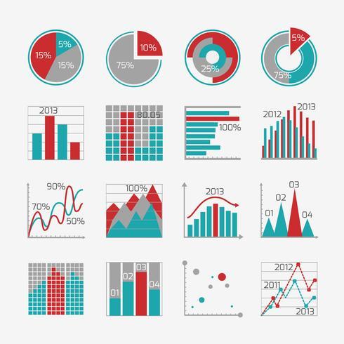 Infographicelementen voor bedrijfsrapport vector