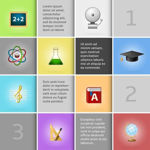 Onderwijs infographic elementen vector