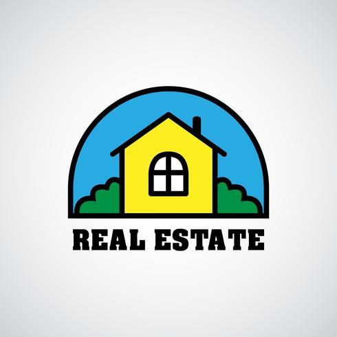 huis onroerend goed logo vector