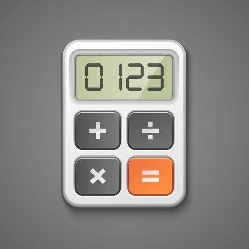 rekenmachine pictogram vector