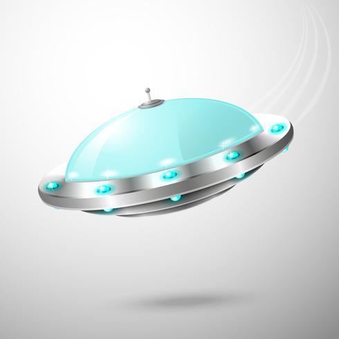 Vliegende ufo embleem vector