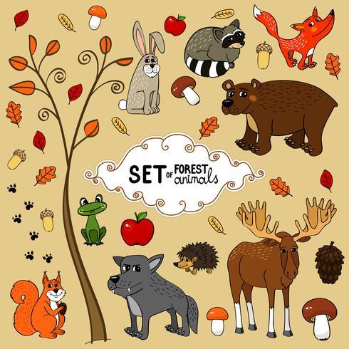 noordelijke bosdieren vector