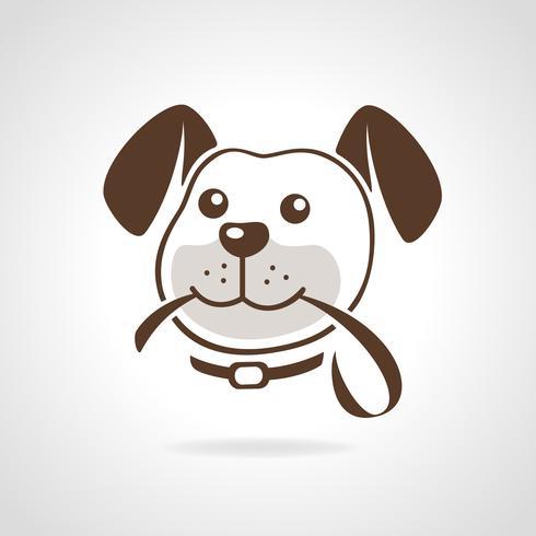 hond met leiband vector