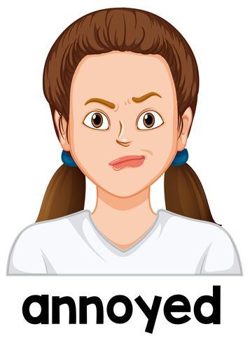 Meisje met geërgerd gezicht vector