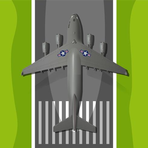 Groot militair landingsvliegtuig vector