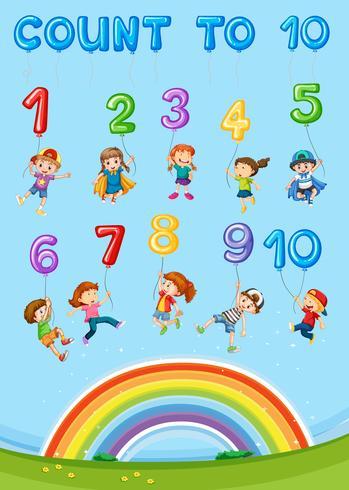 Wiskundig nummer tel hoofdstuk vector