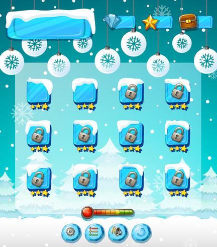 Winter buiten spel sjabloon vector