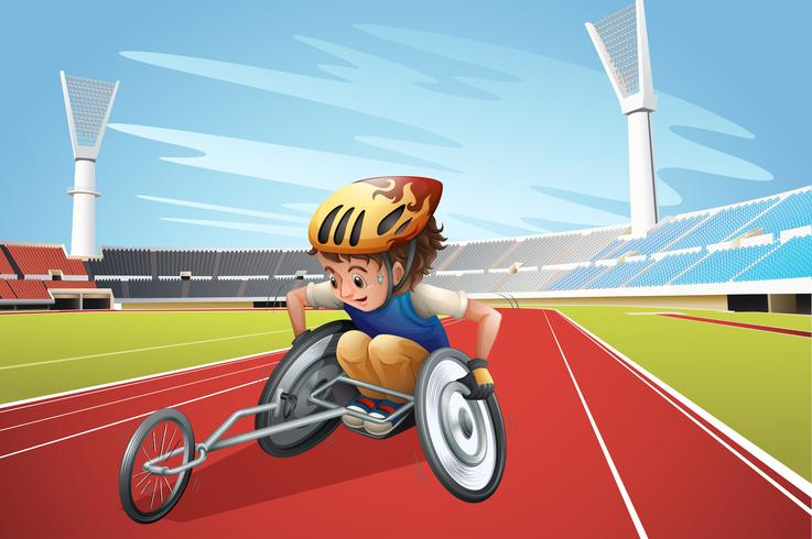 Paralympische atleten in het stadion vector