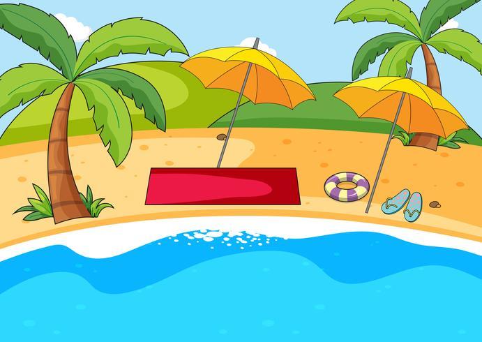Een eenvoudige strandachtergrond vector