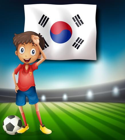 Een voetballer uit Zuid-Korea vector