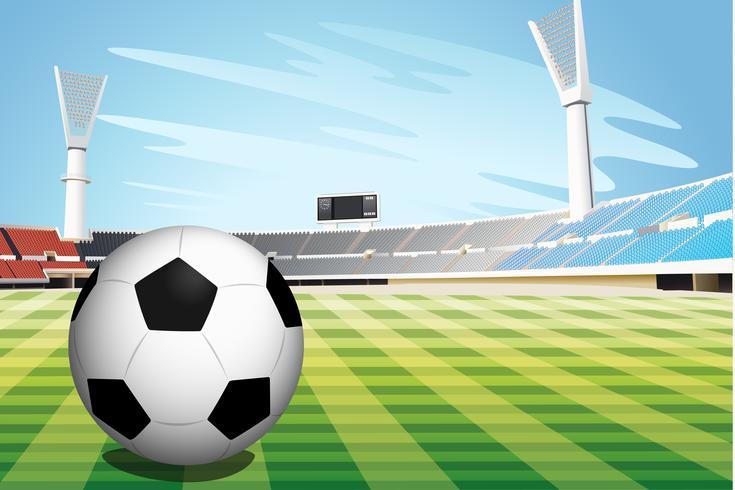 Voetbal stadion vector