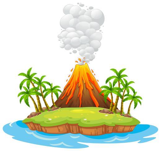 Vulkaan eiland vector