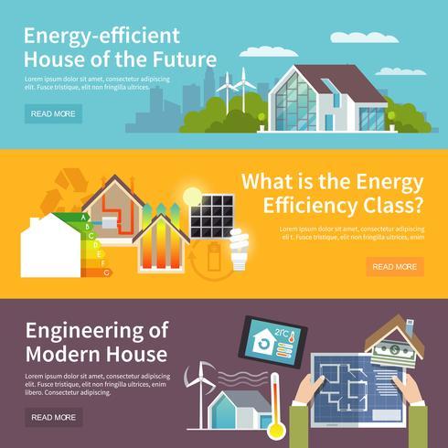 Energiebesparende huisbanner vector