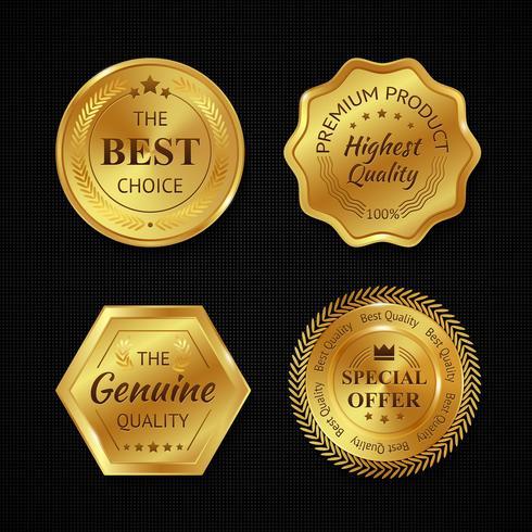 Gouden metalen insignes vector