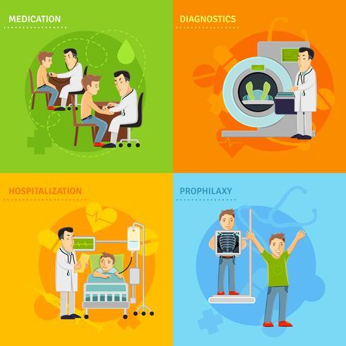 Ziekenhuisbehandeling Concept vector