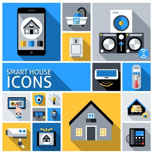 Smart House-pictogrammen vector
