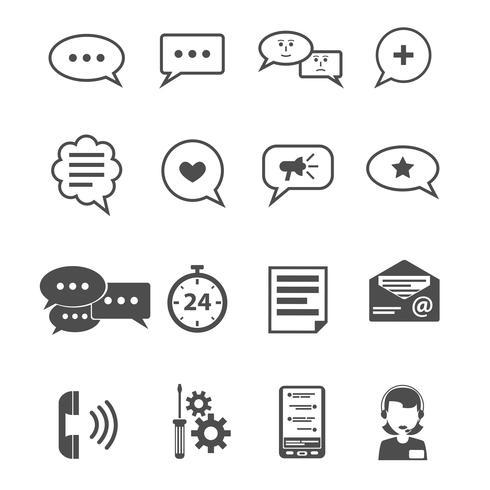 Chatpictogram Zwart vector