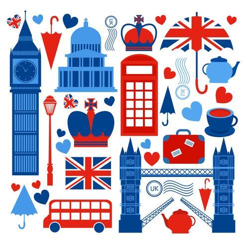 Londen symbolen collectie vector