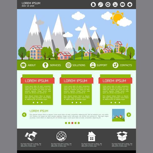 Eco-websitesjabloon vector
